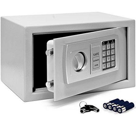 Tresor Safe mit Elektronik-Zahlenschloss 31x20x20cm LED-Anzeige Stahlbolzen