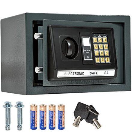 TecTake® Massiver Elektronischer Safe Tresor 20 X 31 X 22cm 4,6 kg schwarz inklusive 4 Batterien